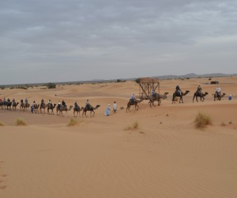 Camping in the dunes of Merzouga