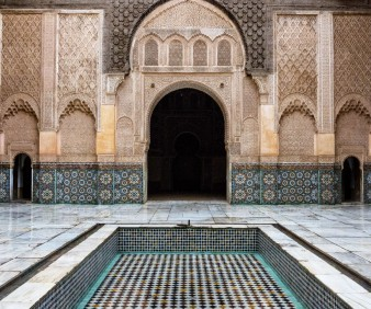 Luxury old Islamic College in Fez